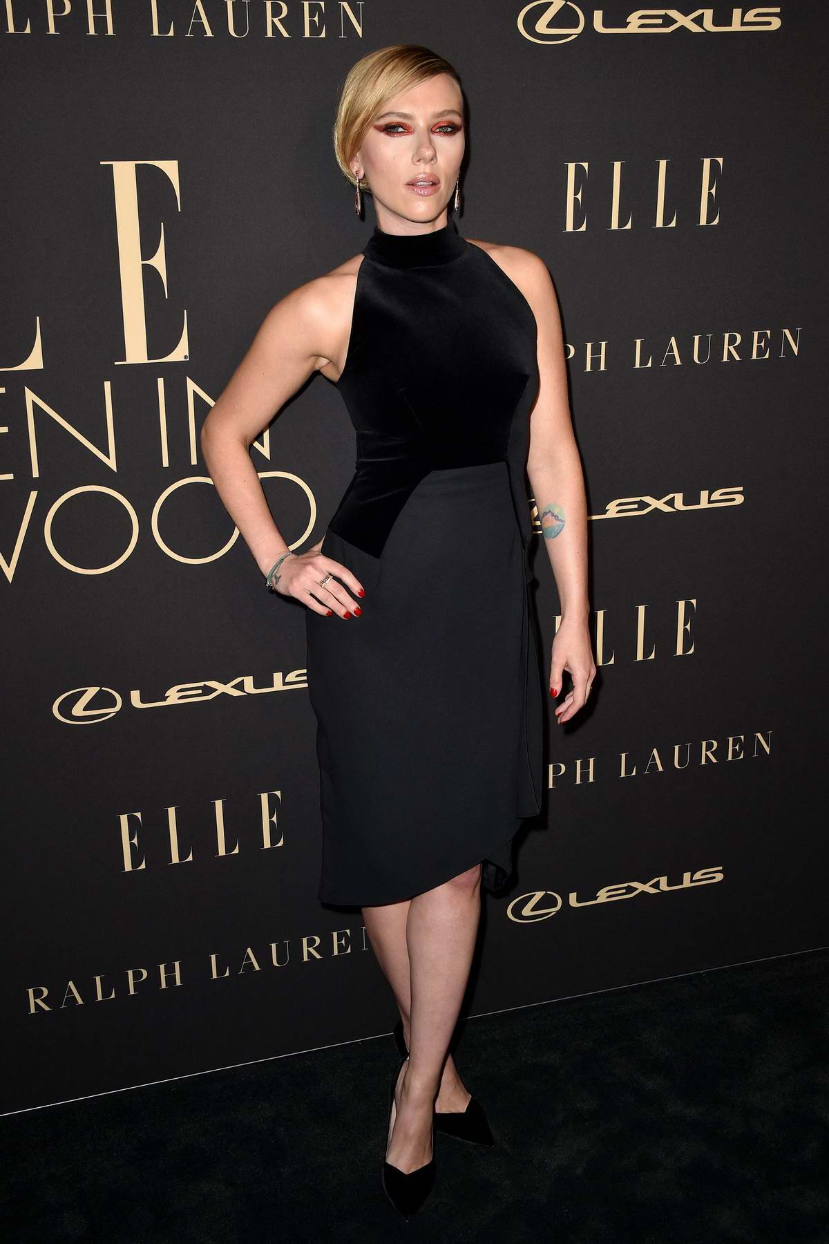 Scarlett Johansson attends ELLE's 26th Annual Women In Hollywood Celebration at The Four Seasons Hotel in Beverly Hills, California