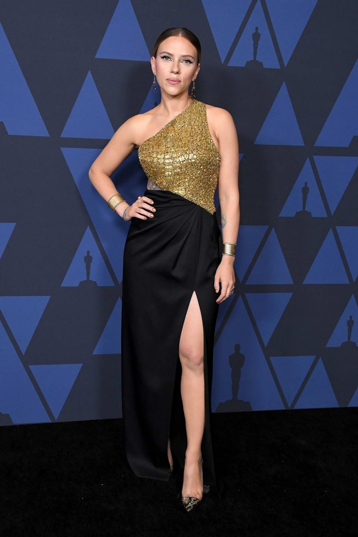 Scarlett Johansson attends the Academy of Motion Picture Arts and Sciences' 11th Annual Governors Awards in Hollywood, California