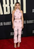 Scarlett Johansson attends the premiere of 'Jojo Rabbit' at the Hollywood American Legion Post 43 in Los Angeles