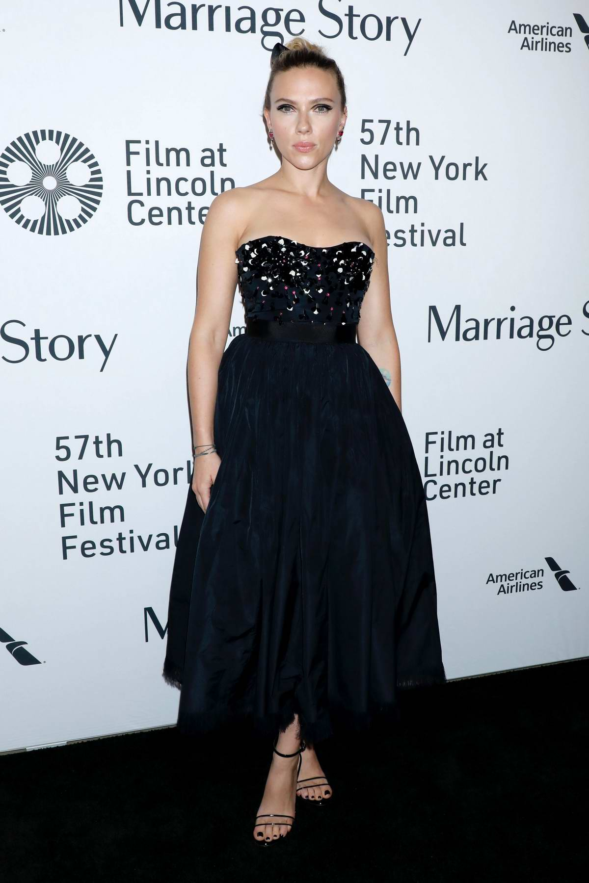 Scarlett Johansson attends the premiere of 'Marriage Story' during 57th New York Film Festival in New York City