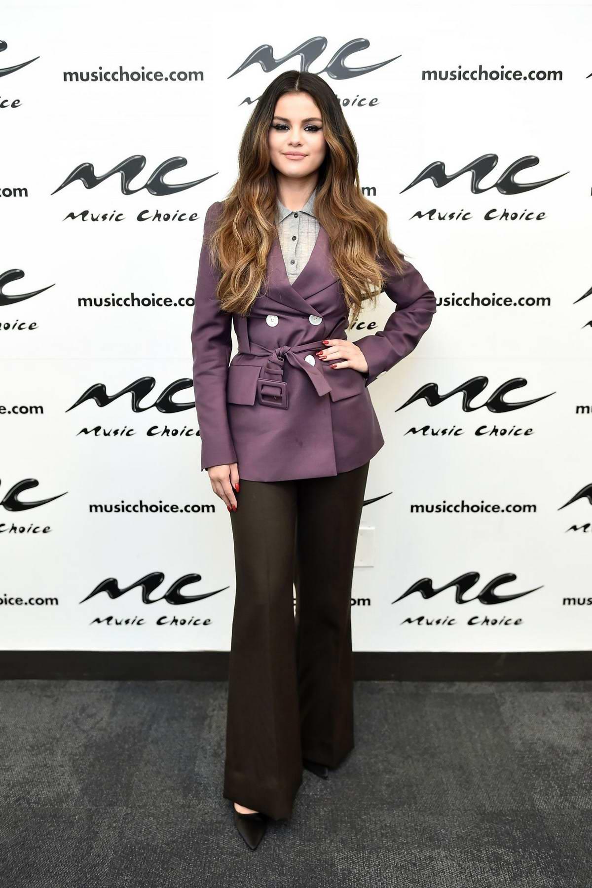 Selena Gomez visits Music Choice in New York City