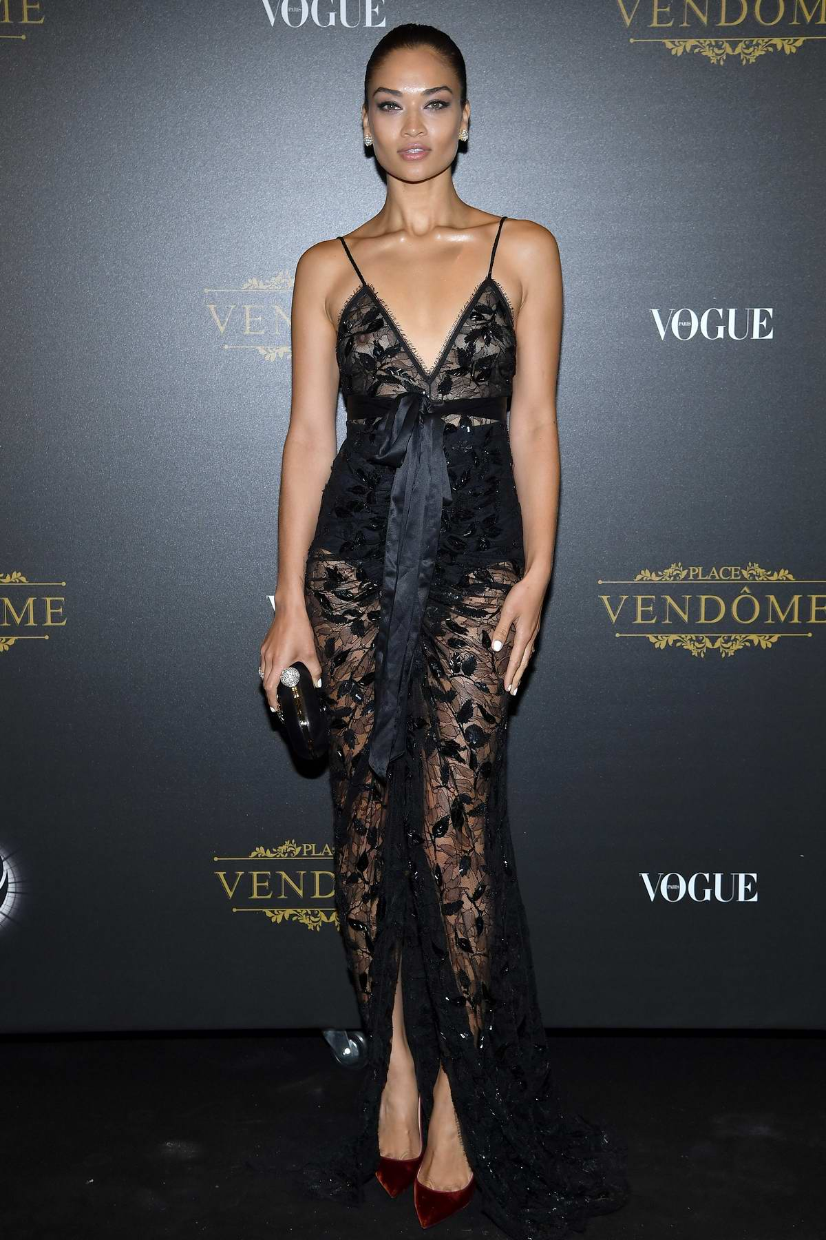 Shanina Shaik attends the Vogue x Irving Penn party during Paris Fashion Week SS 2020 in Paris, France