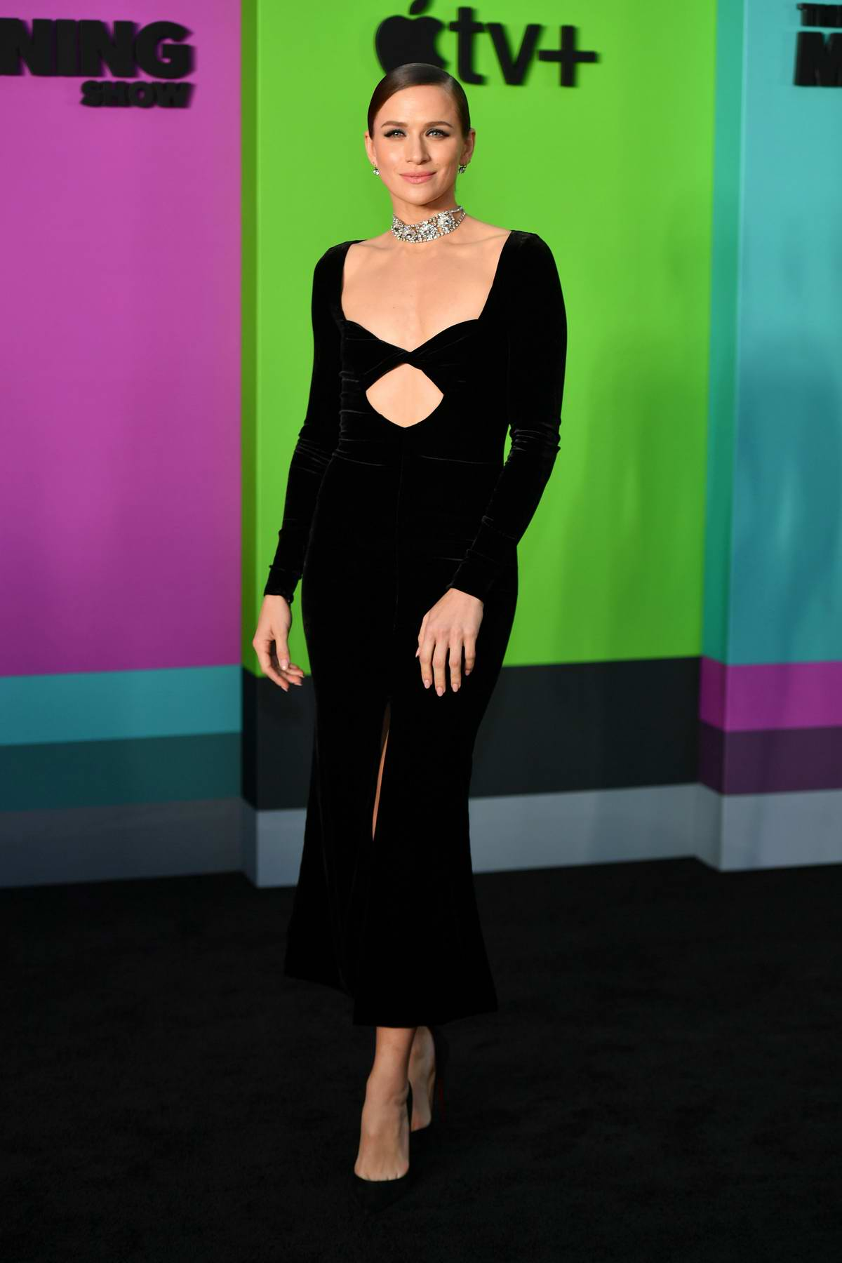 Shantel VanSanten attends the Premiere of Apple TV+'s 'The Morning Show' at Lincoln Center in New York City