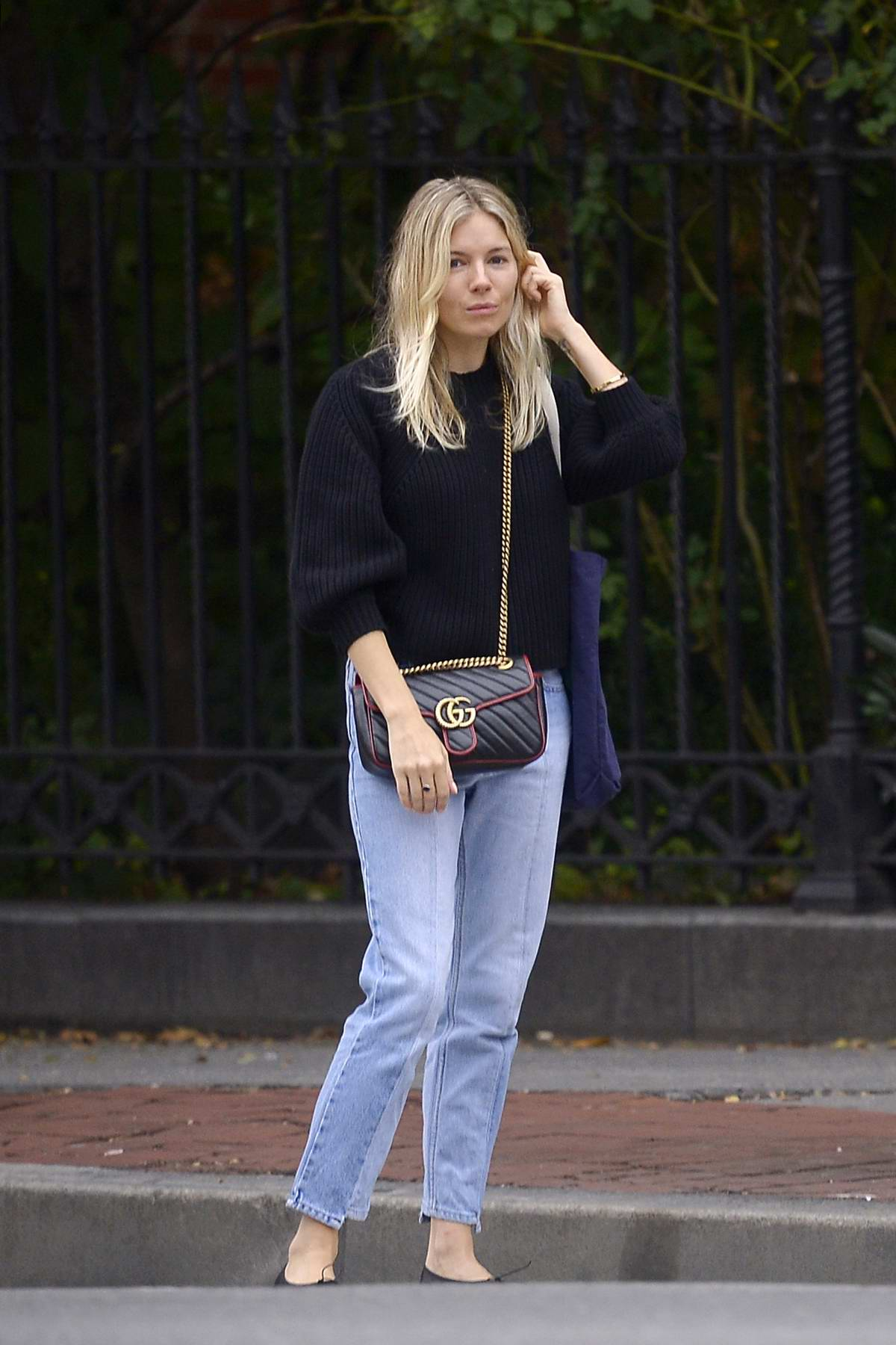 Sienna Miller keeps it casual as she steps out to run a few errands in New York City