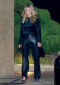 Sofia Richie dons all-black during a date night with Scott Disick at Nobu in Malibu, California