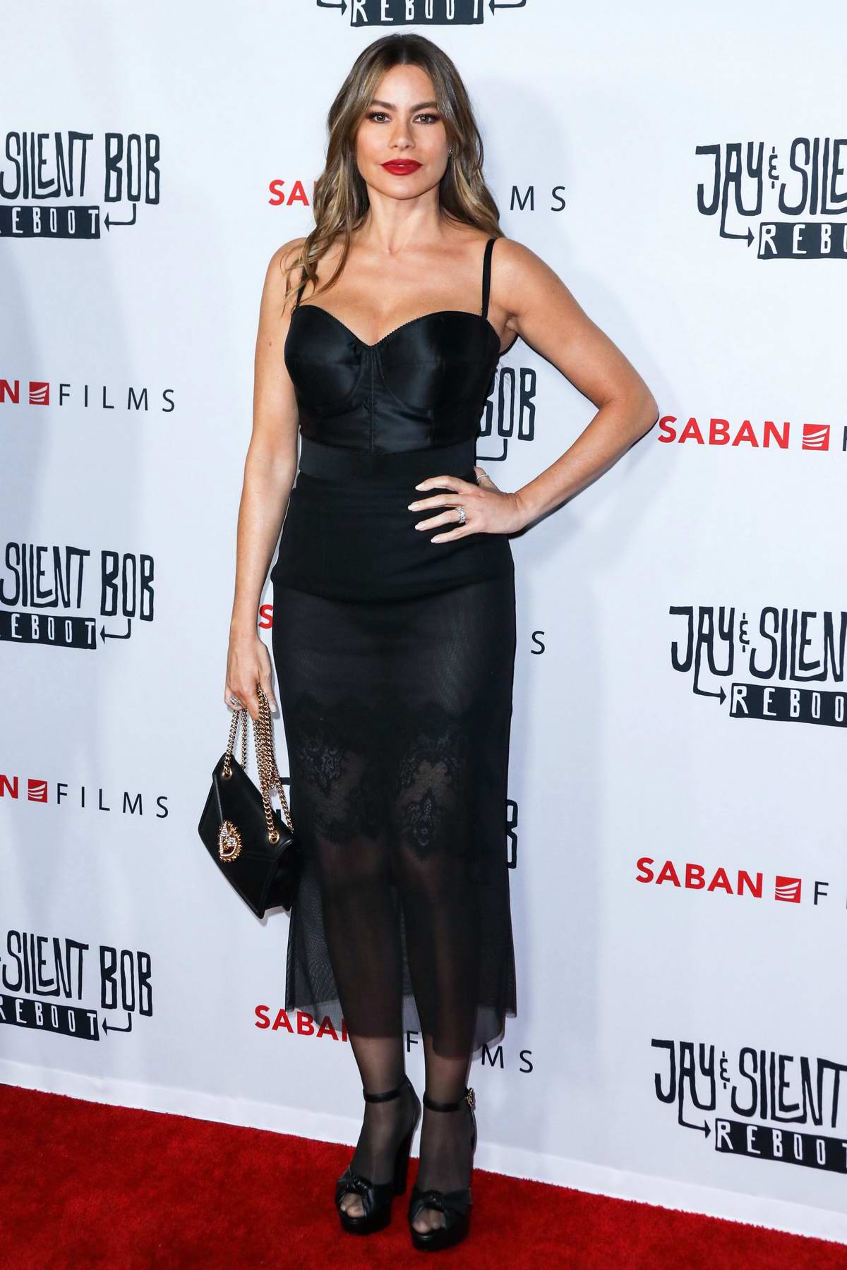 Sofia Vergara attends the screening of 'Jay and Silent Bob Reboot' at TCL Chinese Theatre in Los Angeles