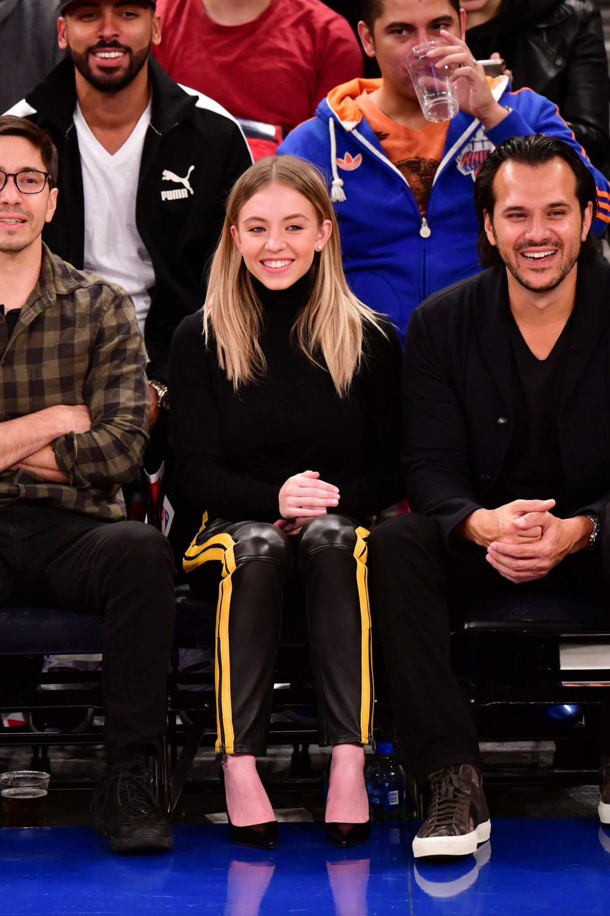 Sydney Sweeney attends New York Knicks v New Orleans Pelicans preseason game at Madison Square Garden in New York City