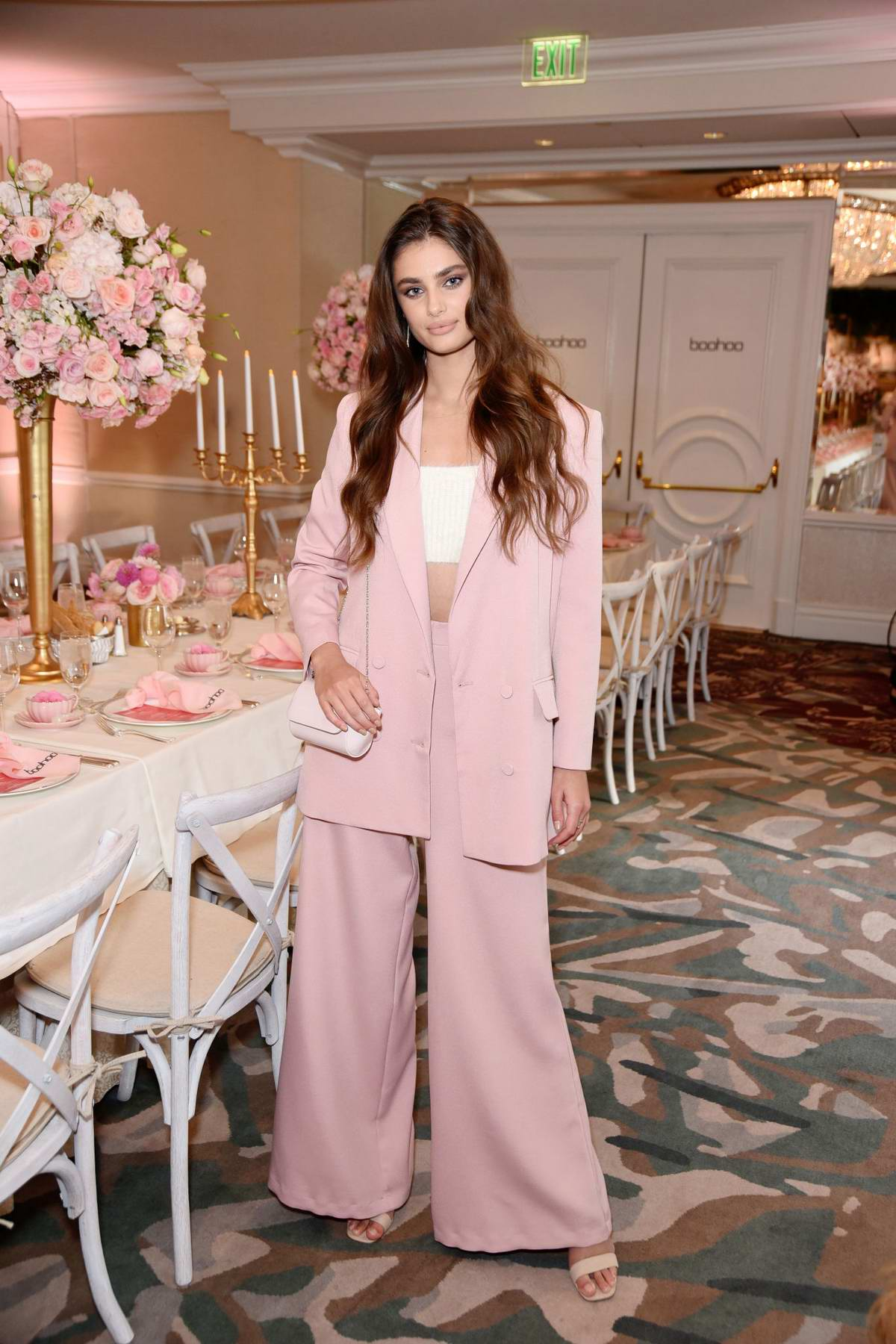 Taylor Hill attends Boohoo x Taylor Hill Tea Party in Malibu, California