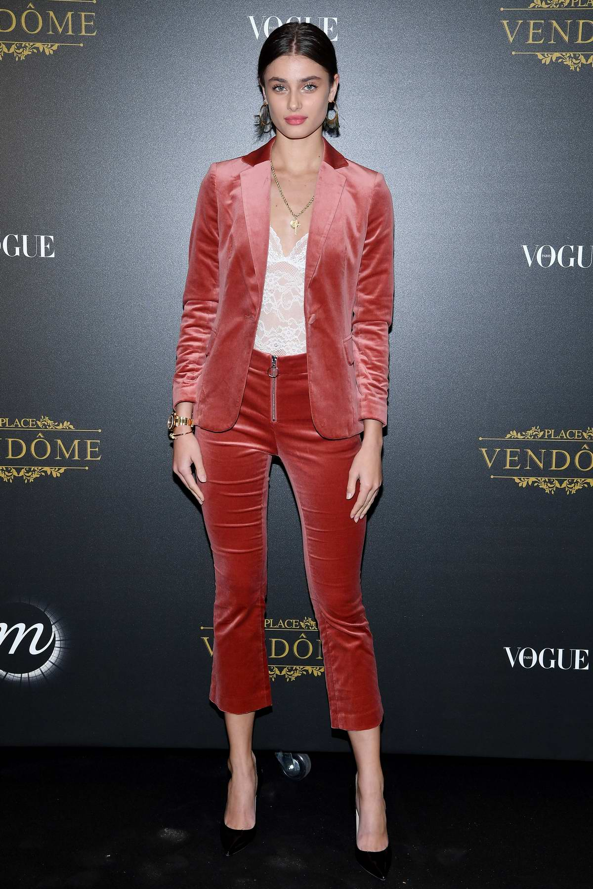 Taylor Hill attends the Vogue x Irving Penn party during Paris Fashion Week SS 2020 in Paris, France