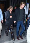 Taylor Swift and Joe Alwyn walk hand in hand out of SNL's after-party at Zuma in New York City