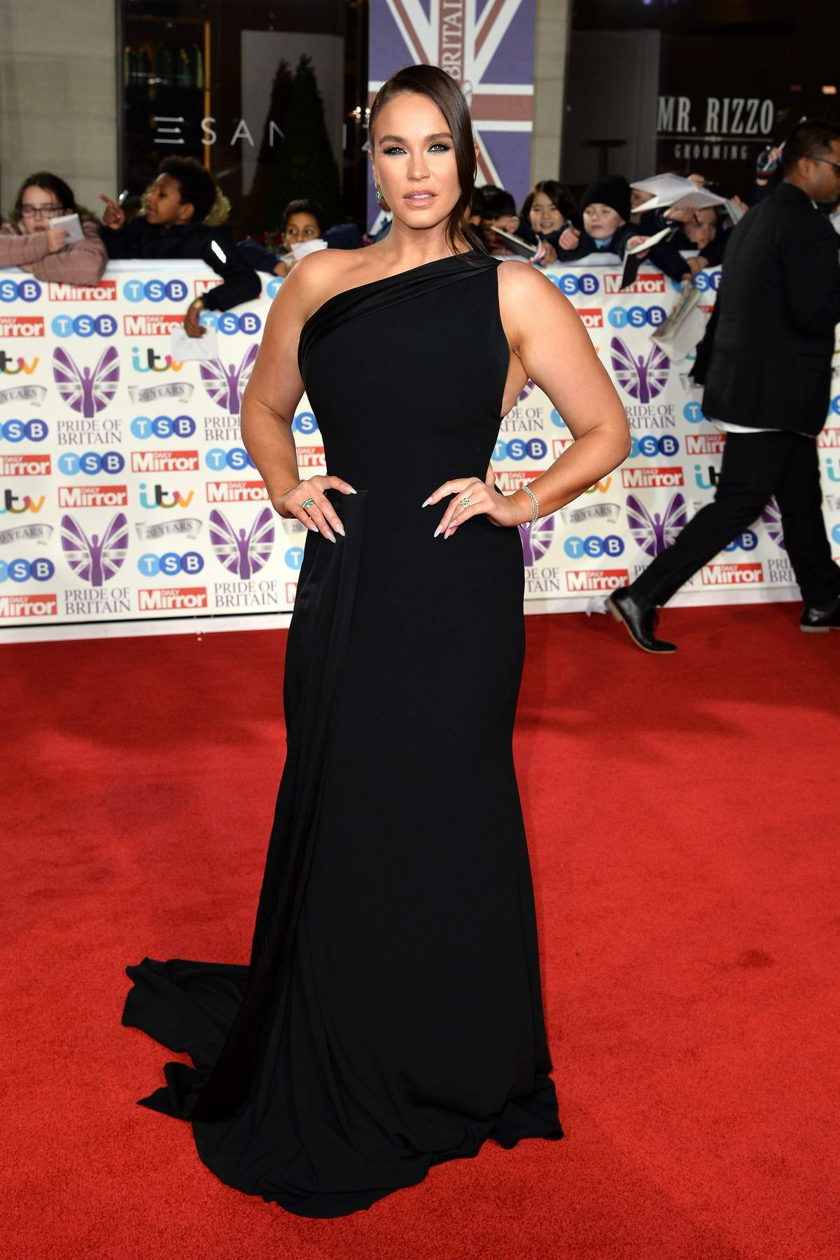 Vicky Pattison attends the Pride of Britain Awards 2019 at Grosvenor House in London, UK