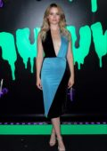 Virginia Gardner attends the Huluween Party during 2019 New York Comic Con in New York City