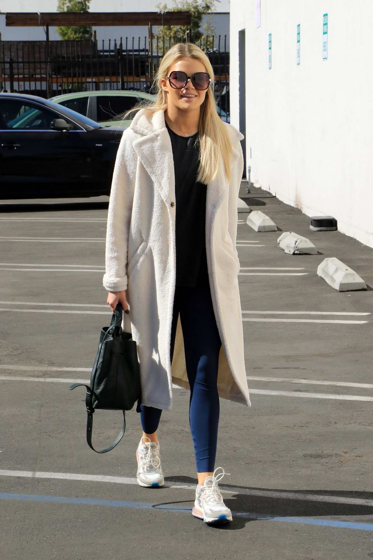 Witney Carson seen arriving at the 'Dancing With The Stars' studio in Los Angeles