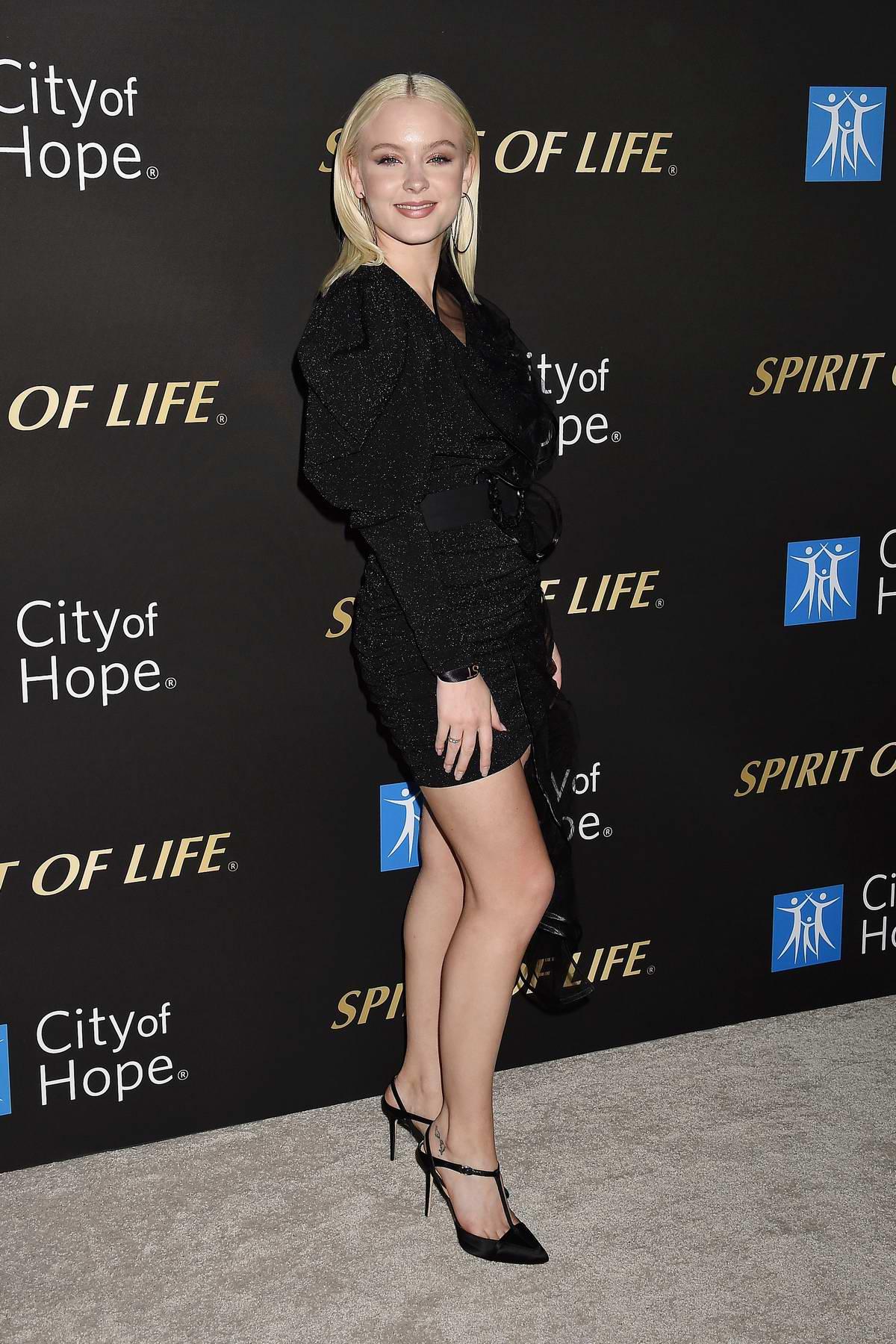 Zara Larsson attends the City Of Hope Spirit Of Life Gala 2019 in Santa Monica, California