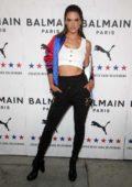 Alessandra Ambrosio attends PUMA x Balmain Launch Event at Milk Studios in Los Angeles