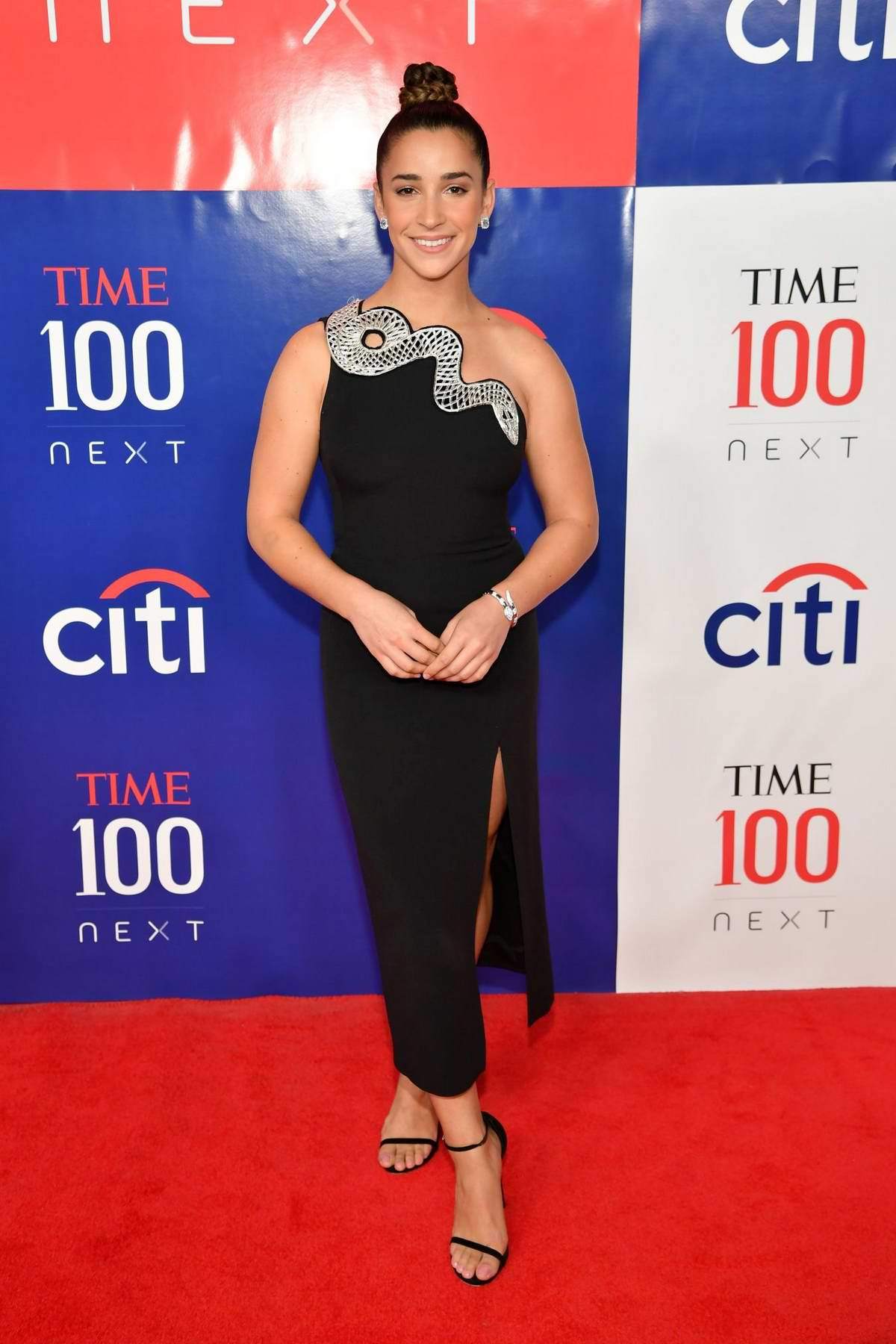 Aly Raisman attends TIME 100 Next 2019 at Pier 17 in New York City