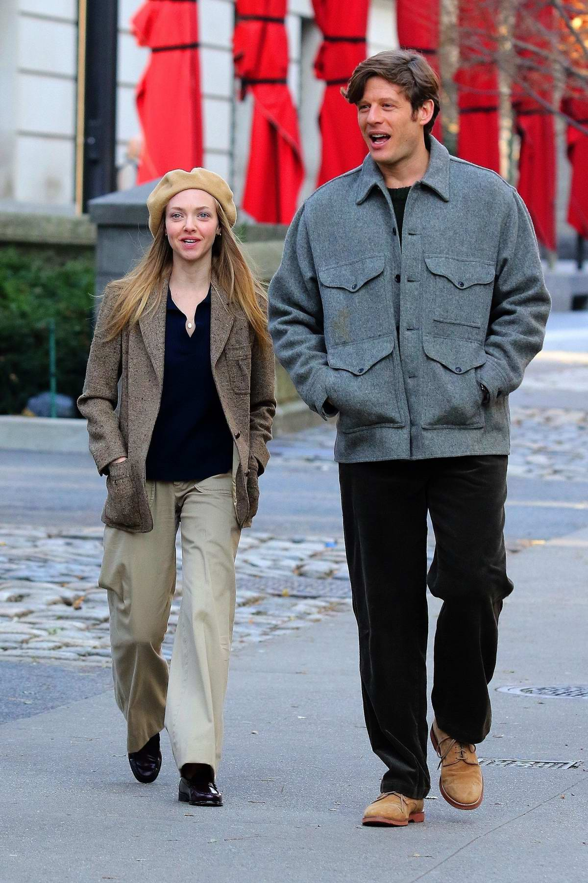 Amanda Seyfried and James Norton spotted while filming the 1970s thriller 'Things Heard and Seen' in New York City