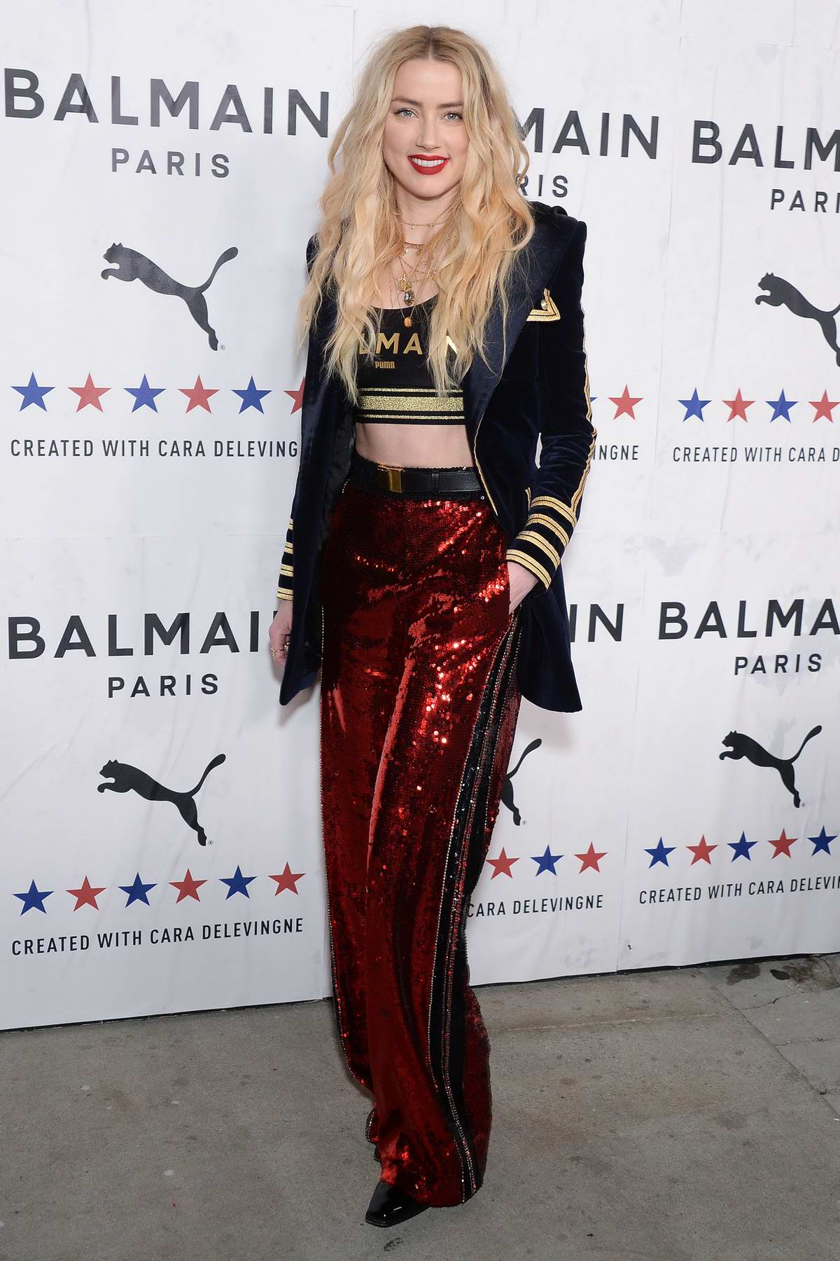 Amber Heard attends PUMA x Balmain Launch Event at Milk Studios in Los Angeles