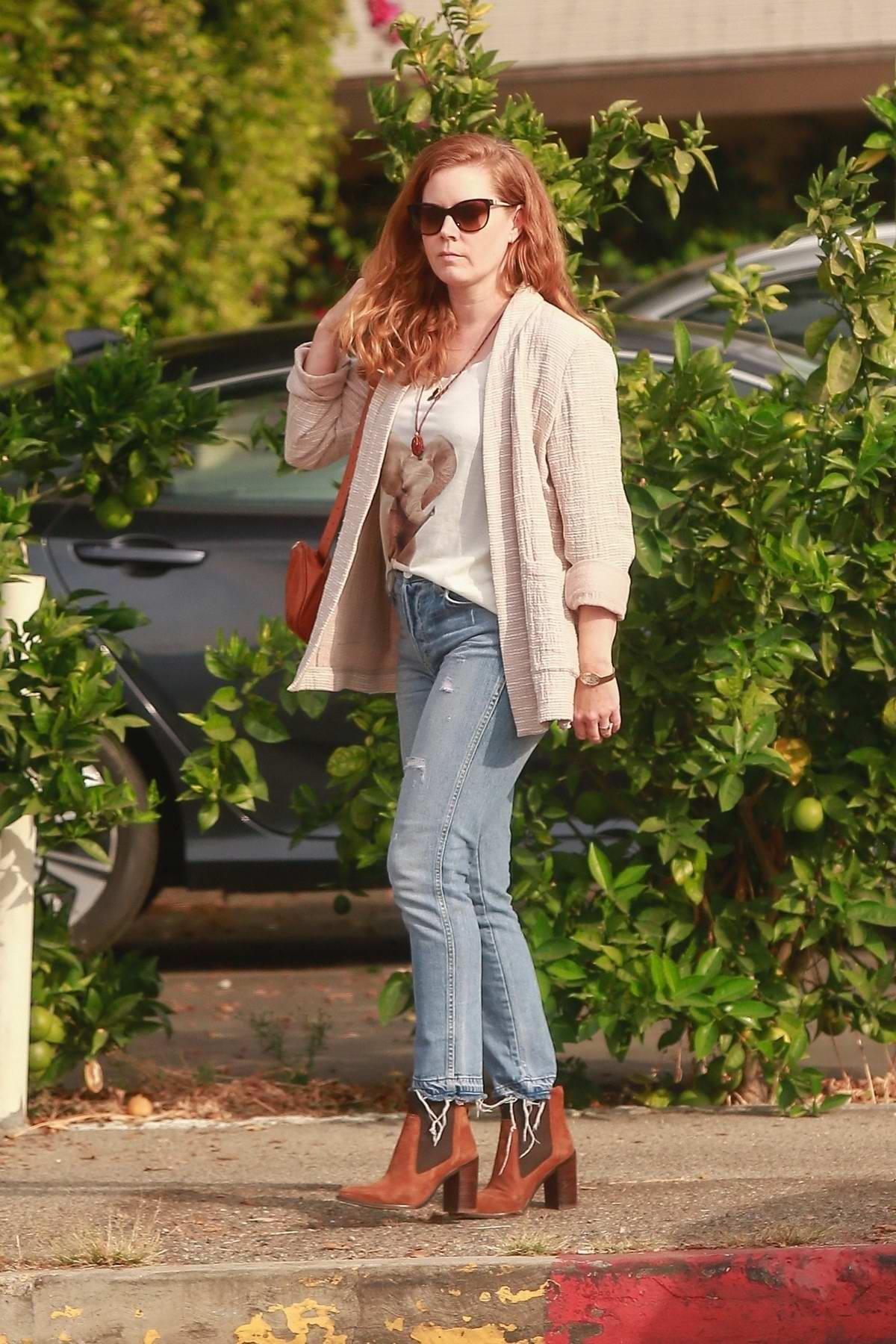 Amy Adams steps out for lunch at Ca Del Sole Italian Restaurant in Toluca Lake, Calfornia