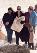 Angelina Jolie takes a break from filming of 'The Eternals' and checks out the beach with her kids in Fuerteventura, Spain