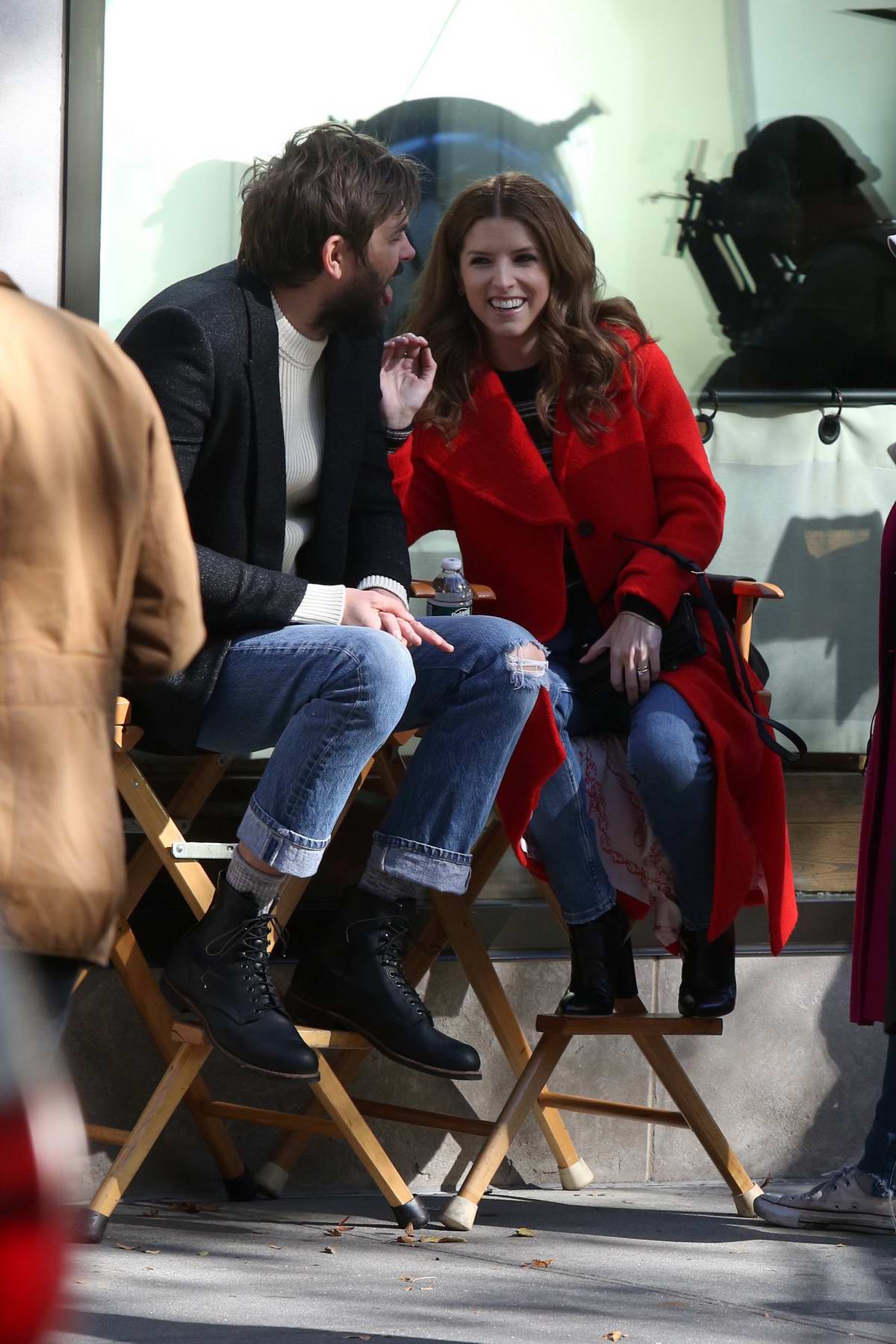 Anna Kendrick and Nick Thune spotted on the set of 'Love Life' in New York City