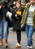 Anna Kendrick spotted on the set of 'Love Life' filming in Brooklyn, New York