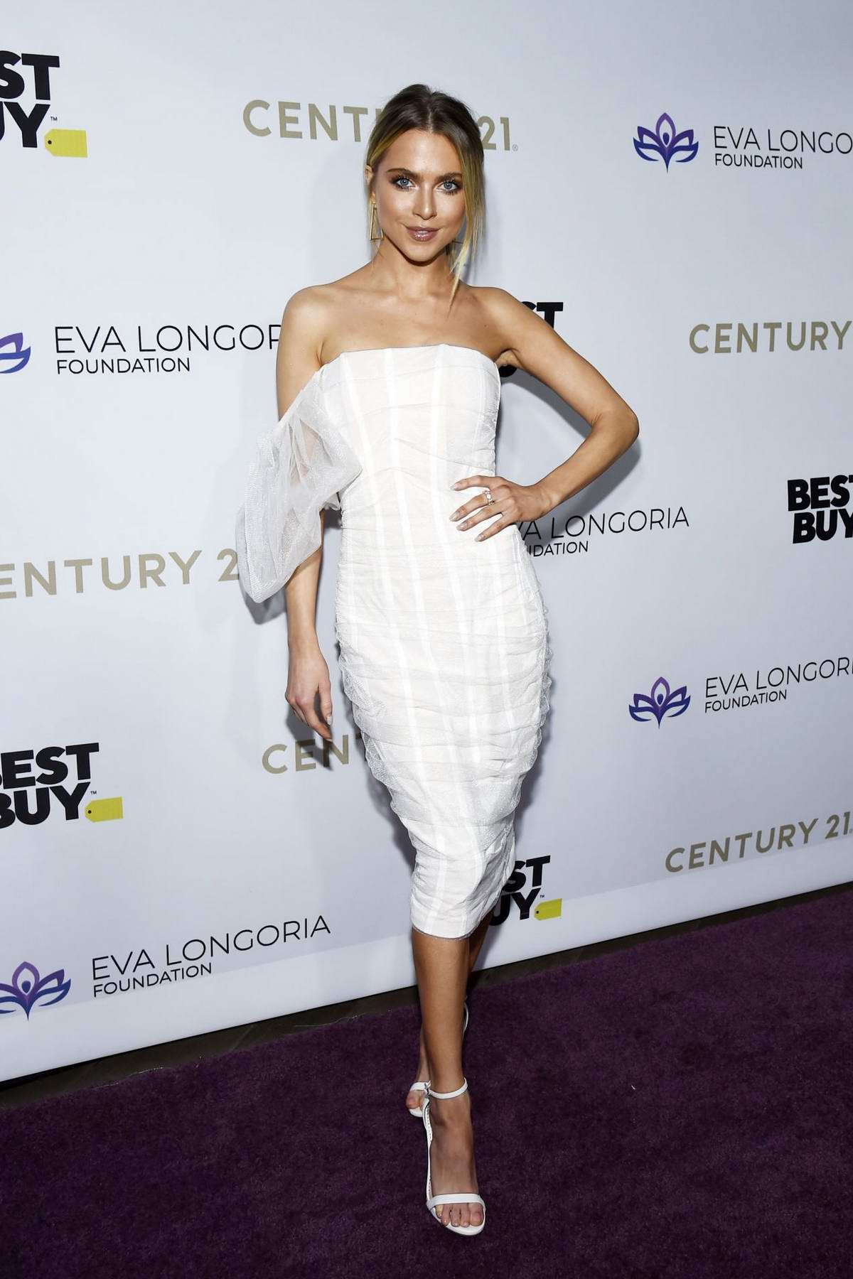 Anne Winters attends The Eva Longoria Foundation Gala at the Four Seasons Los Angeles in Beverly Hills, California