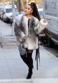 Ariana Grande looks ready for winter as she steps out wearing cozy faux fur coat in New York City