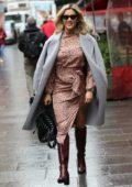 Ashley Roberts keeps it stylish as she leaves Heart Radio in London, UK