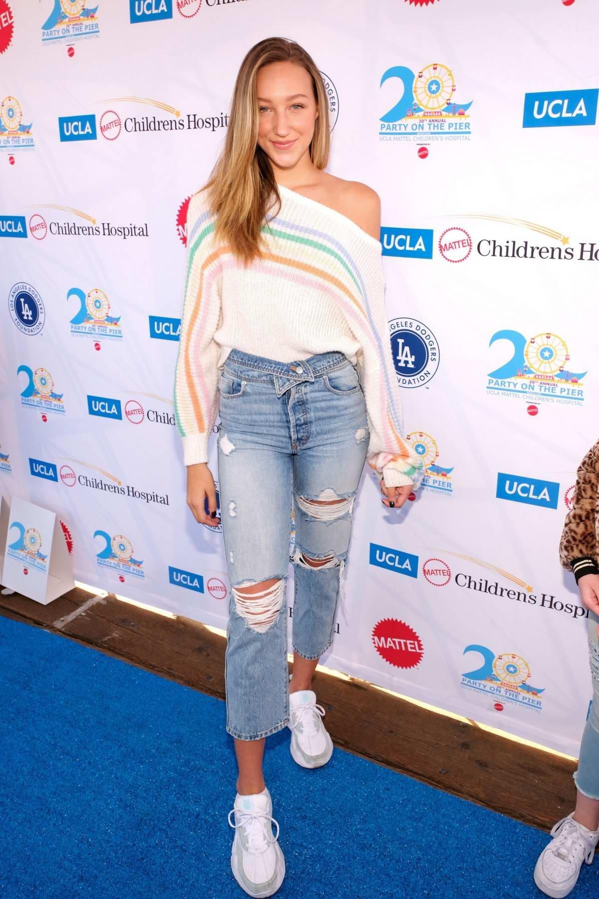 Ava Michelle attends UCLA Mattel Children's Hospital's 20th Annual Party On The Pier in Santa Monica, California