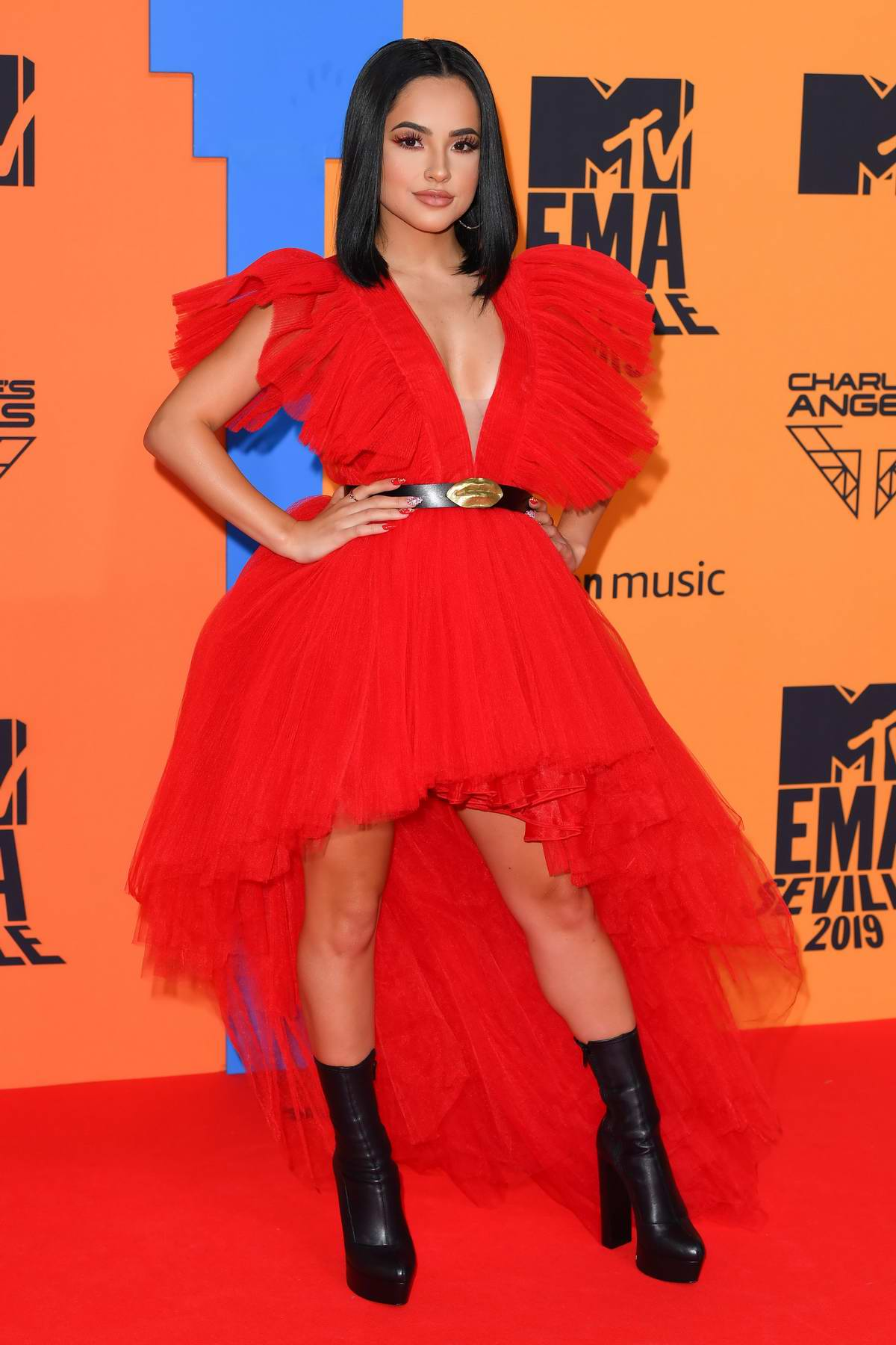 Becky G attends the MTV European Music Awards 2019 at FIBES Conference and Exhibition Centre in Seville, Spain