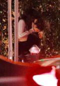 Camila Cabello and Shawn Mendes share a passionate kiss after a romantic dinner at Giorgio Baldi in Santa Monica, California