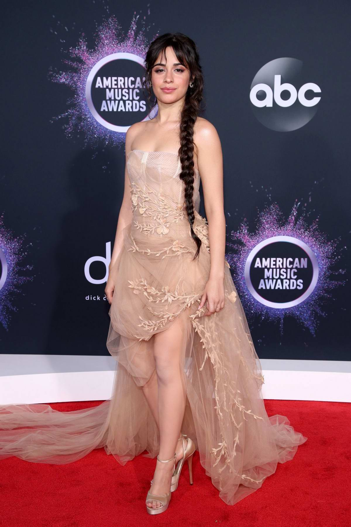 Camila Cabello attends the 2019 American Music Awards at Microsoft Theater in Los Angeles