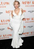 Camille Kostek attends Heidi Klum's 20th Annual Halloween Party at Cathédrale Restaurant in New York City