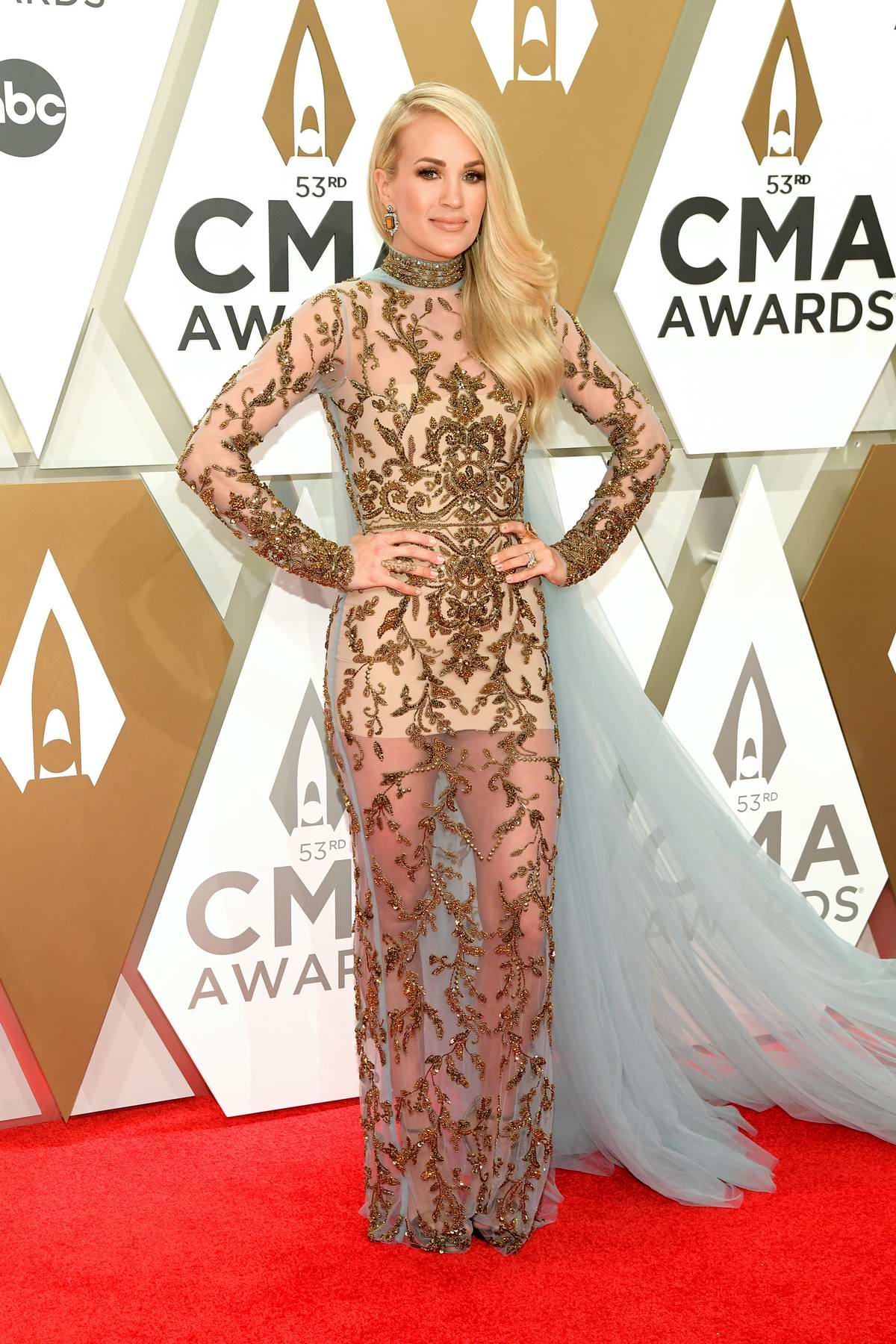 Carrie Underwood attends the 53rd annual CMA Awards at the Music City Center in Nashville, TN