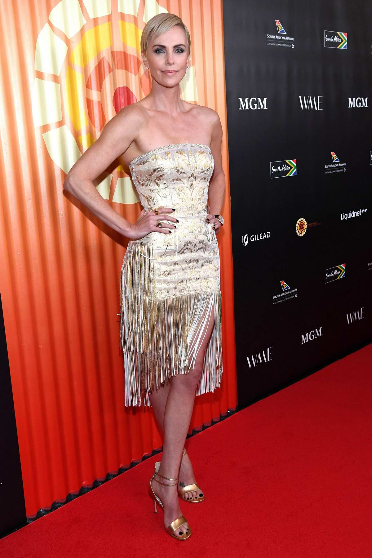 Charlize Theron attends Charlize Theron Africa Outreach Project Fundraising Event at The Africa Center in New York City