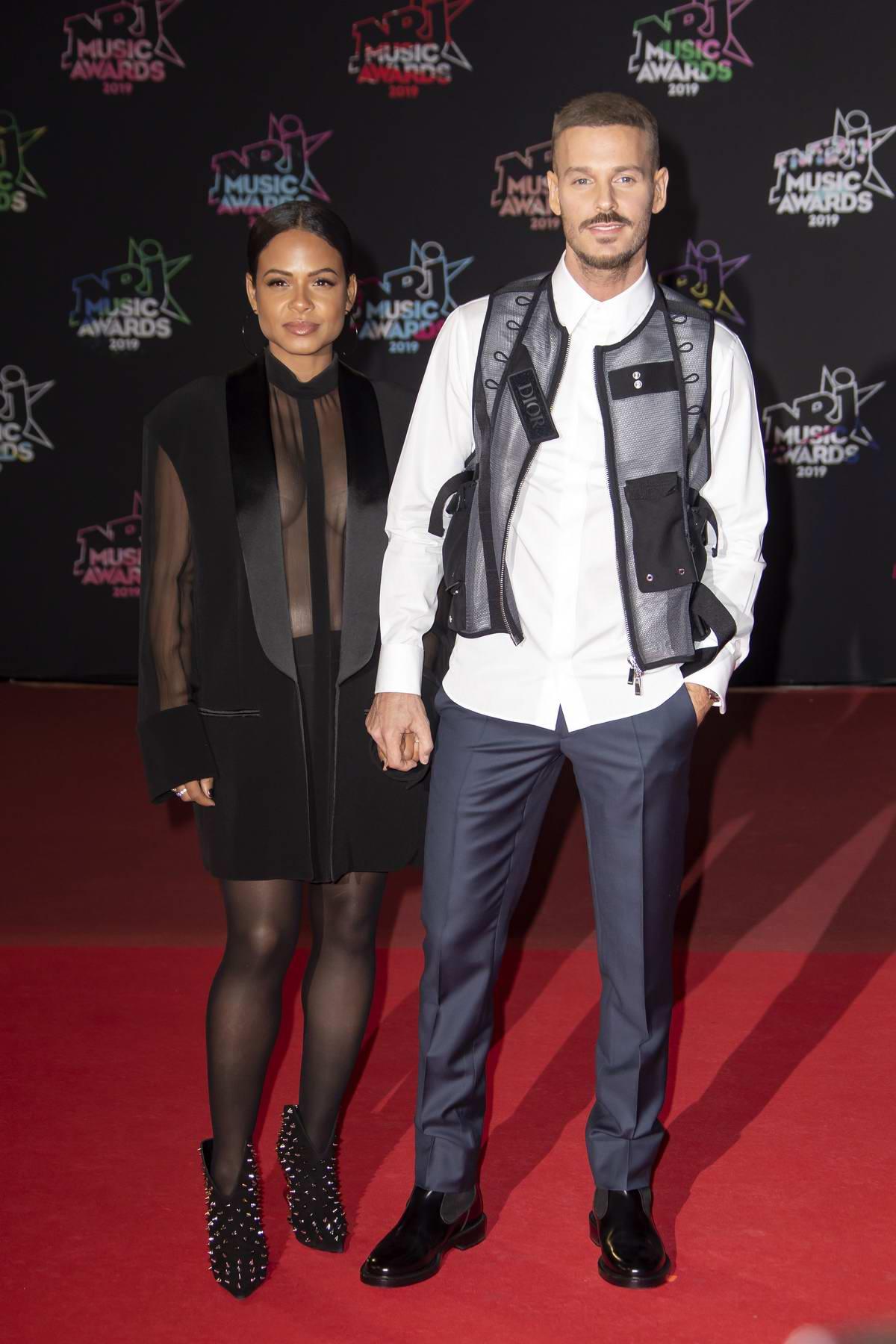 Christina Milian and Matt Pokora attend the 21st NRJ Music Awards in Cannes, France