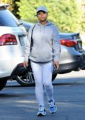 Christina Milian spotted working at her beignet box truck in Los Angeles