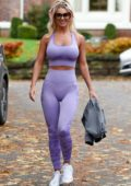 Christine McGuinness shows off her amazing figure as she leaves the gym after another work out in Cheshire, UK