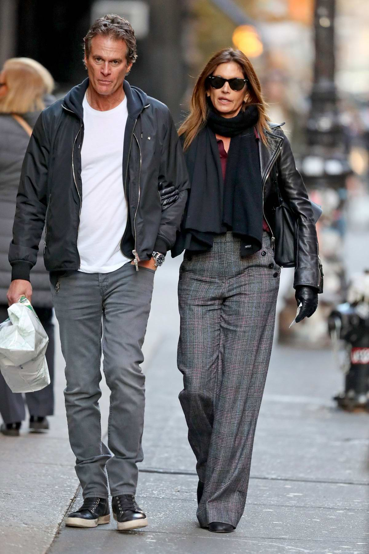 Cindy Crawford and Rande Gerber seen while out for a stroll in New York City