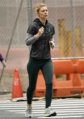 Claire Danes goes for a morning run in New York City