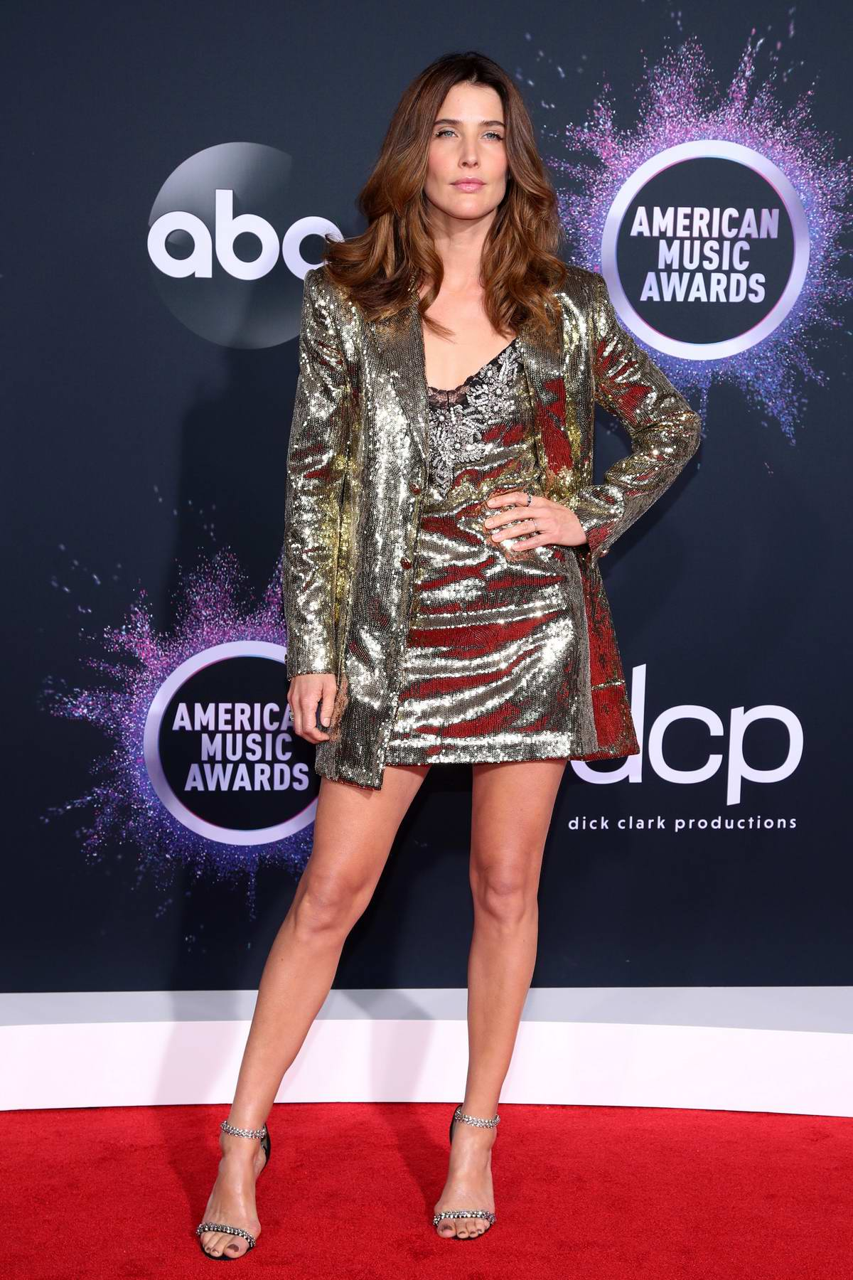 Cobie Smulders attends the 2019 American Music Awards at Microsoft Theater in Los Angeles