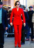 Daisy Ridley looks striking in bright red suit while visiting 'Good Morning America' in New York City