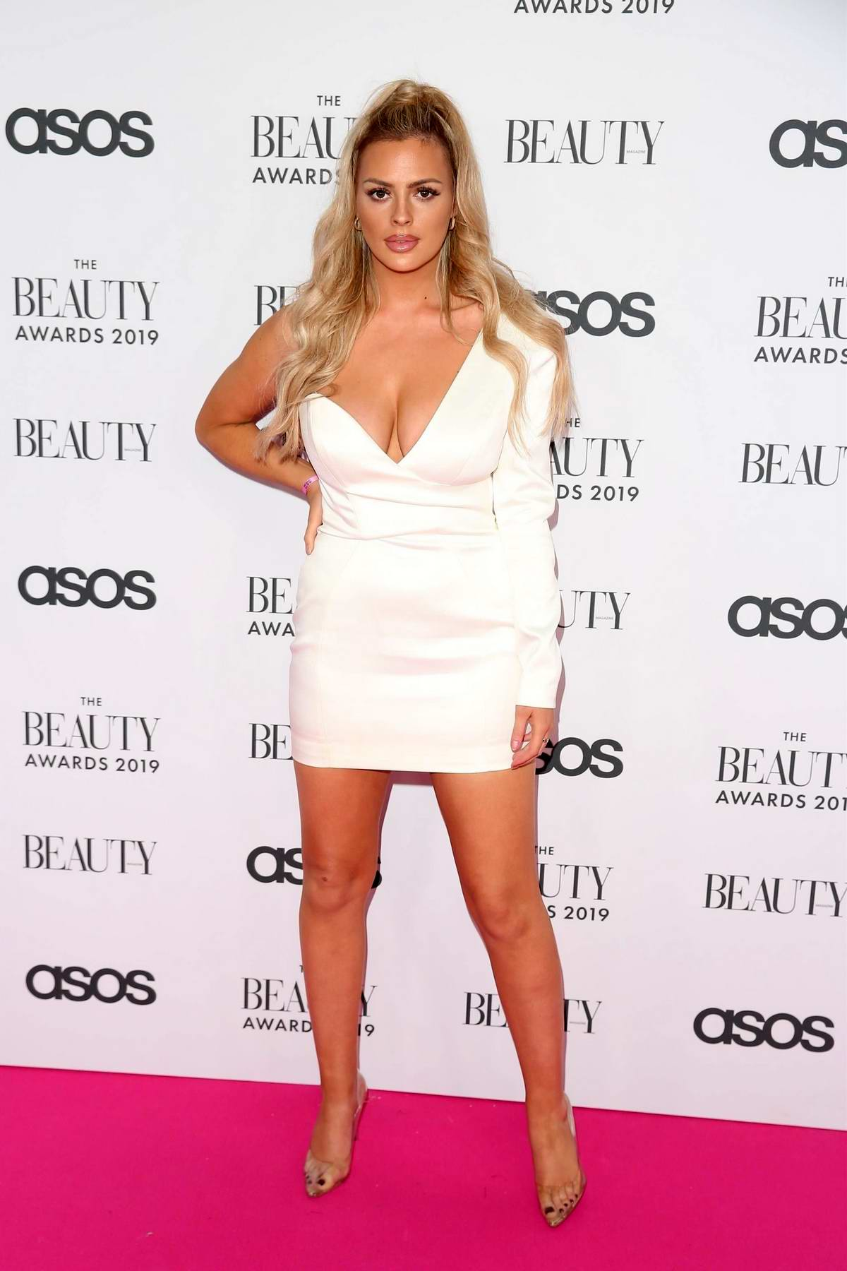 Danielle Sellers attends The Beauty Awards 2019 with ASOS at City Central in London, UK