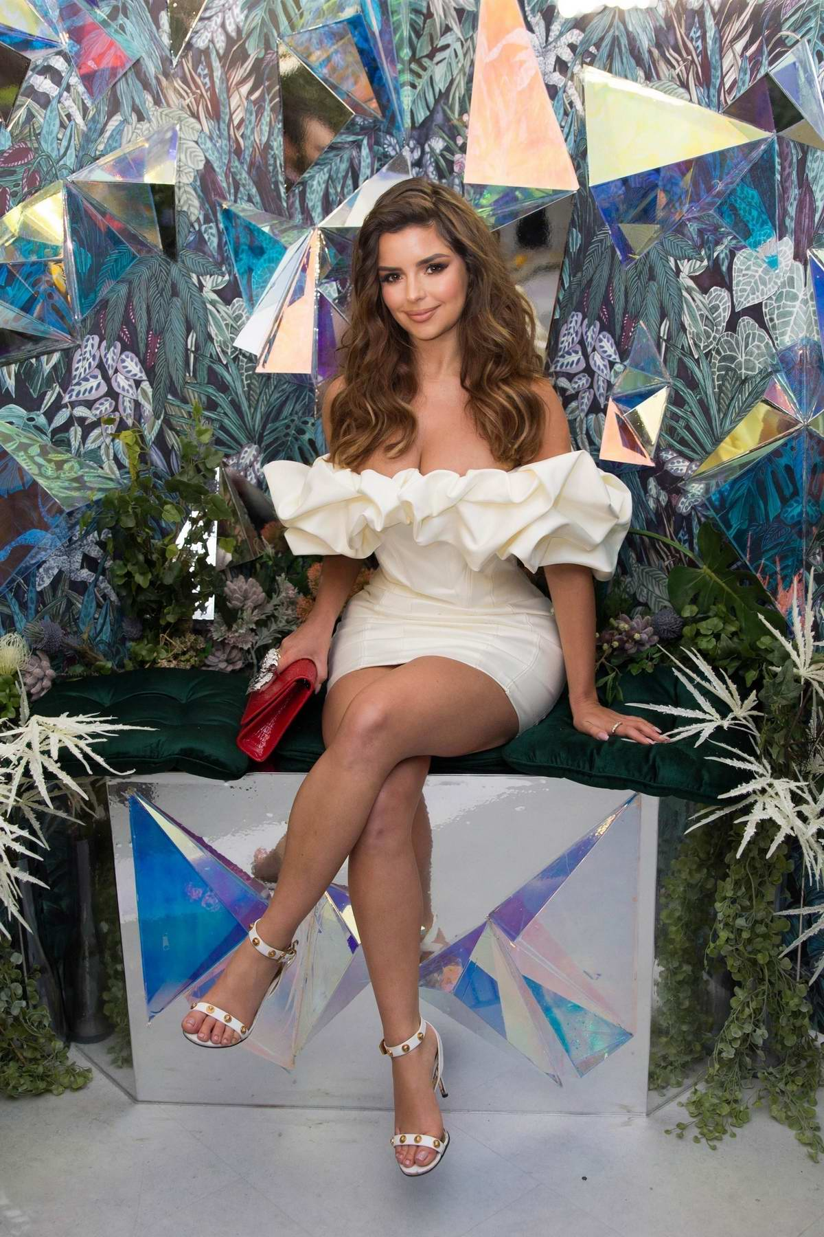 Demi Rose attends the newest Instagrammable Cafe 'Feya' Launch Party in London, UK