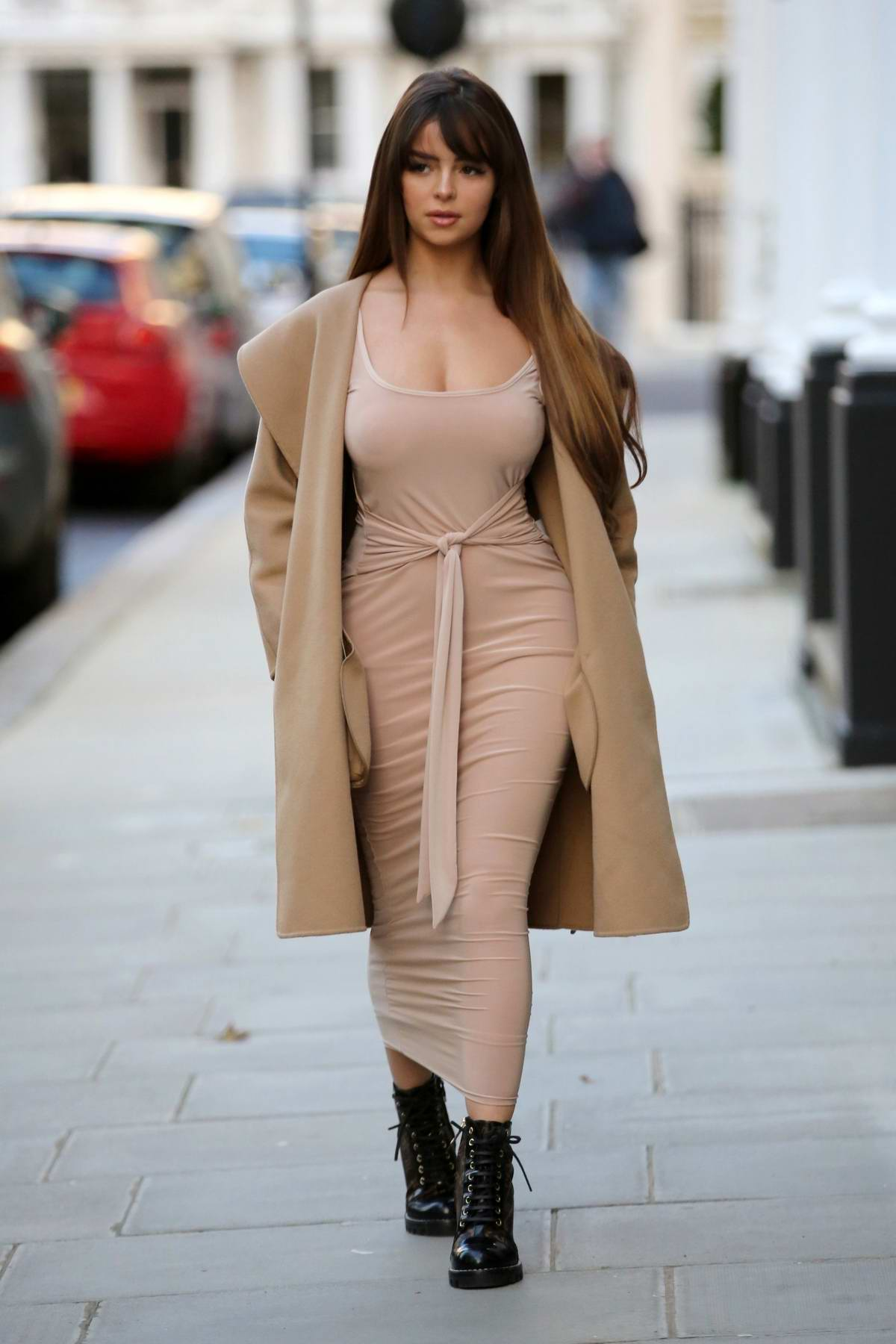 Demi Rose spotted at the LullaBellz pop up boutique in London, UK