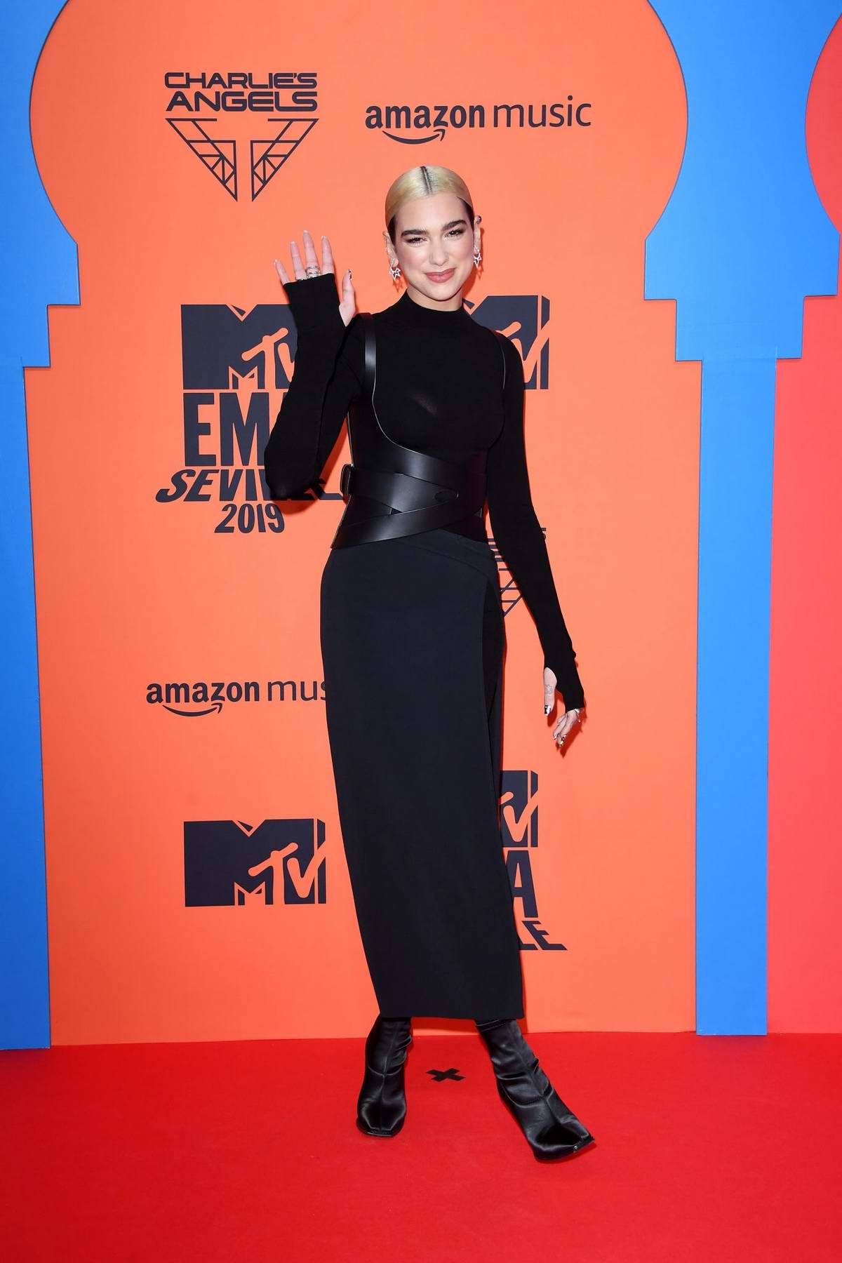 Dua Lipa attends the MTV European Music Awards 2019 at FIBES Conference and Exhibition Centre in Seville, Spain