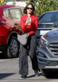 Eiza González picks up her ride with the valet after enjoying lunch at a local healthy eatery in Los Angeles