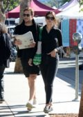 Eiza Gonzalez and Luke Bracey spend their morning shopping at the Farmer's Market in Los Angeles