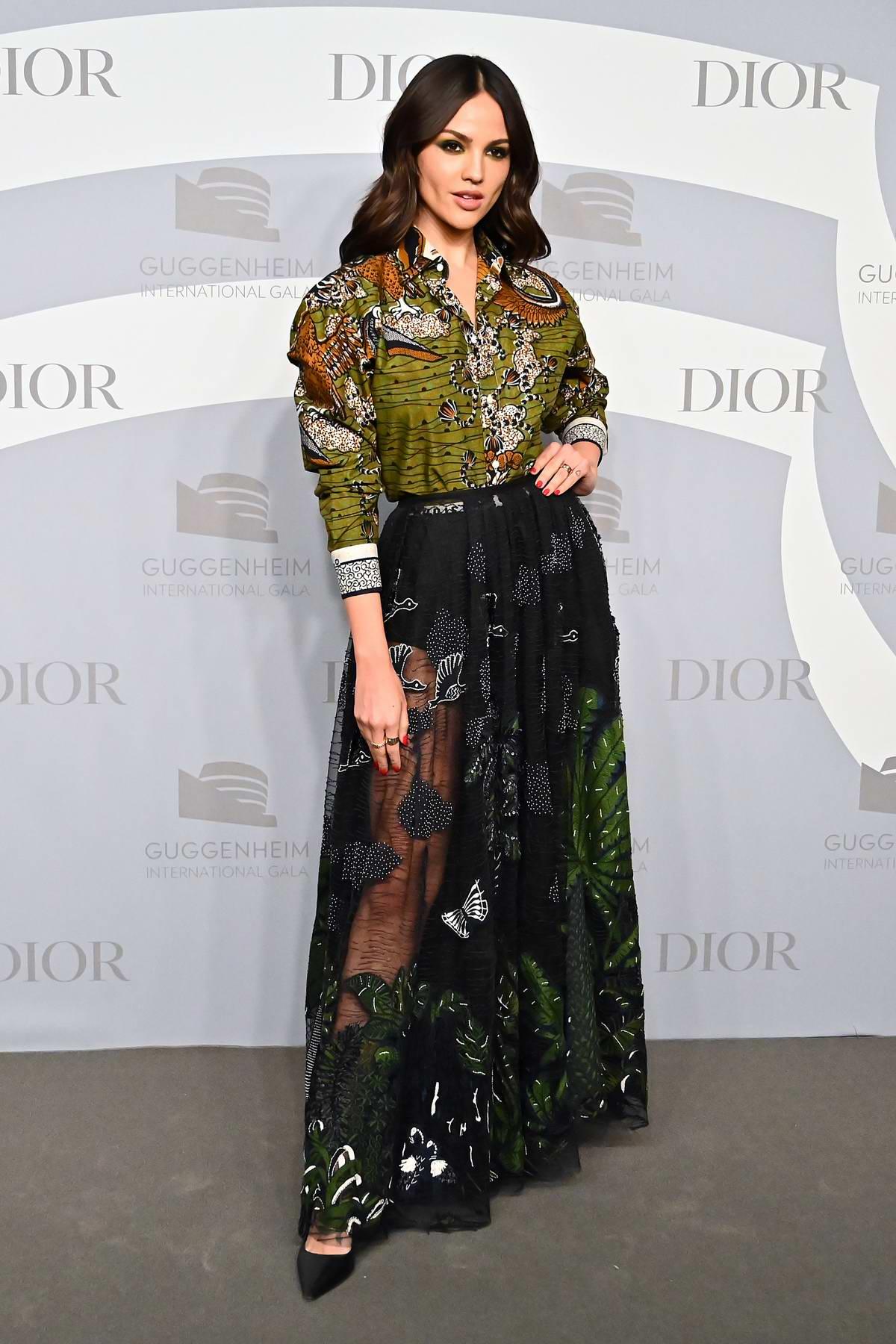 Eiza Gonzalez attends the Guggenheim International Gala at The Guggenheim in New York City
